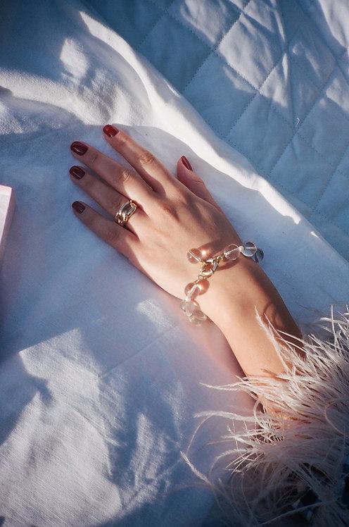 Bohemian Glass & Pearl Bracelet