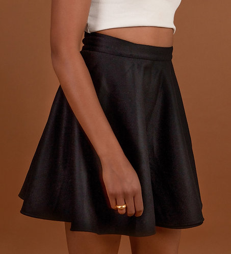 Mini Wrap Skirt Black