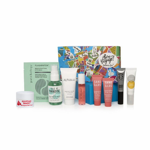 Beauty boat image with products