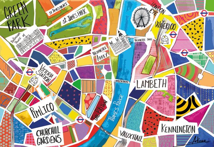 London street map illustration