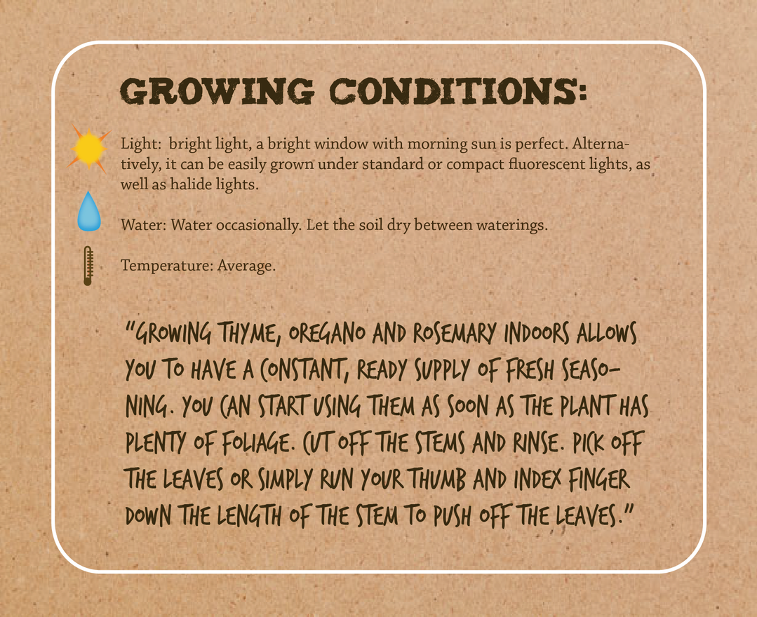 Growing conditions details