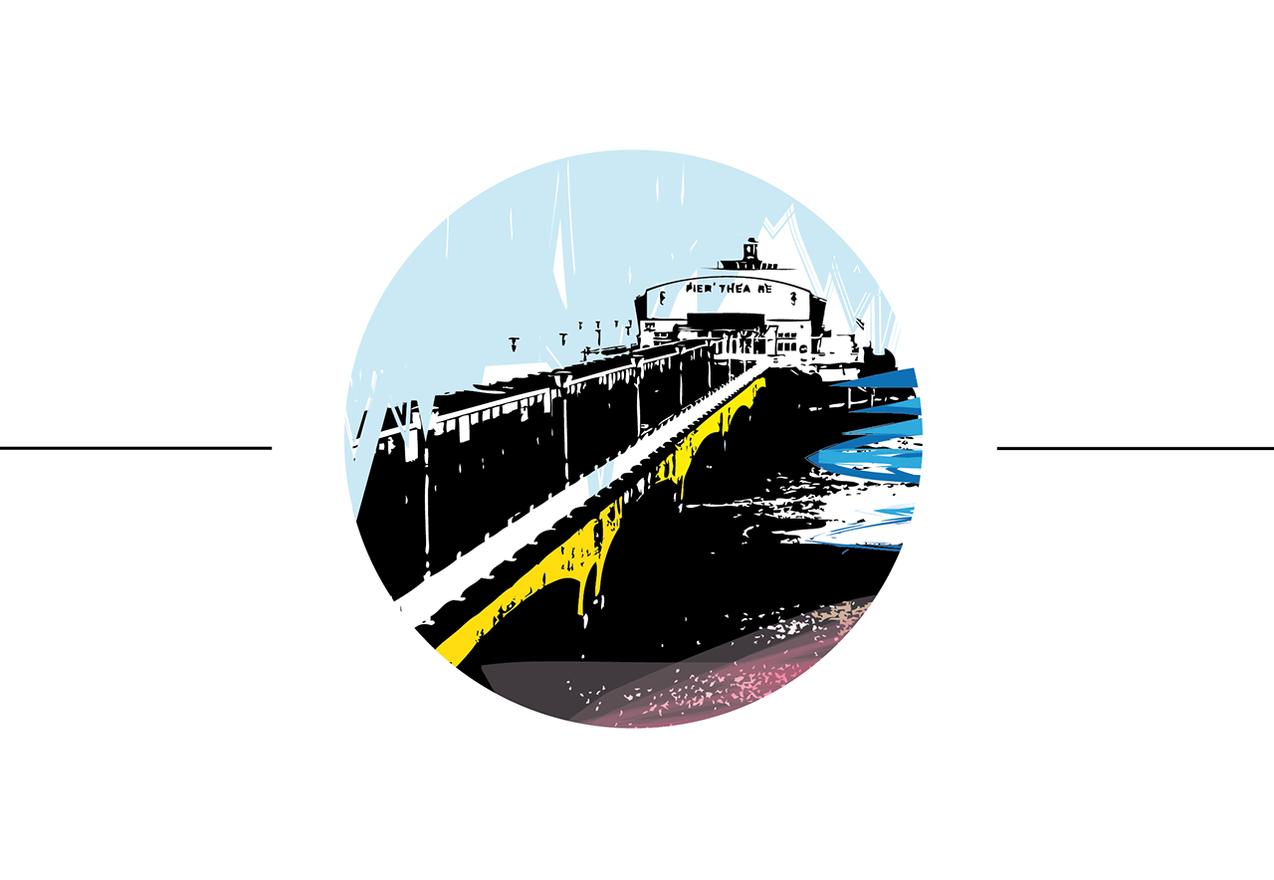 Bournemouth pier illustration