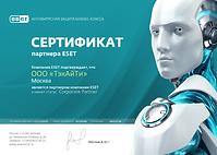 Сертификат ТэкАйТи ESET