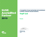 TeqIT LLC SUSE Accredited Partner 2019.p