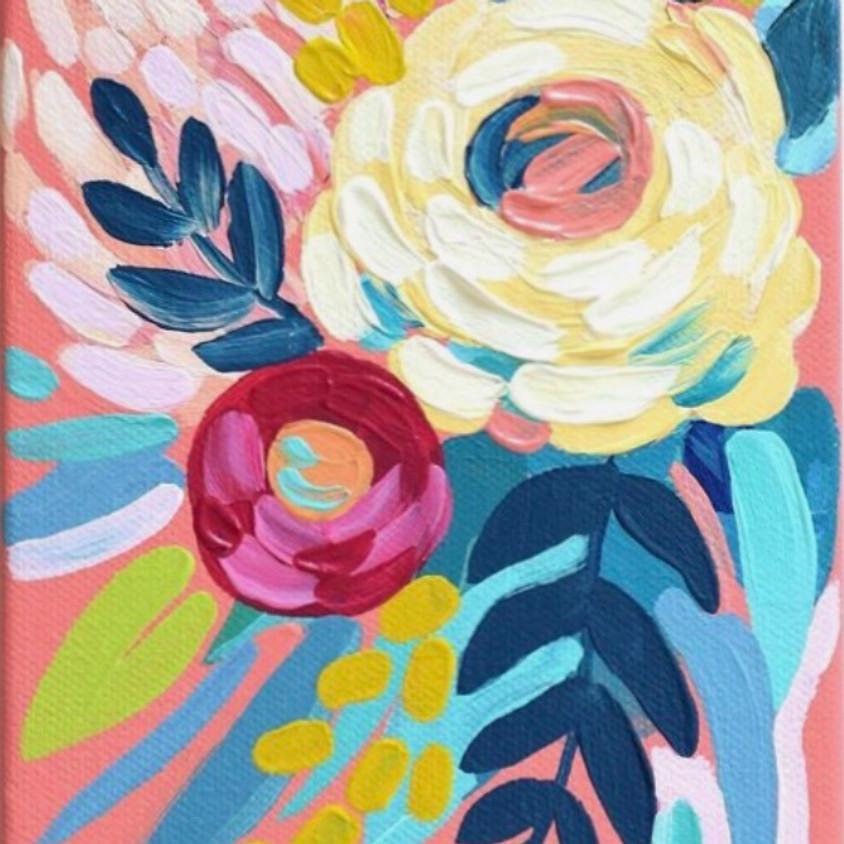 Chromatic Canvas Painting - Bouquet