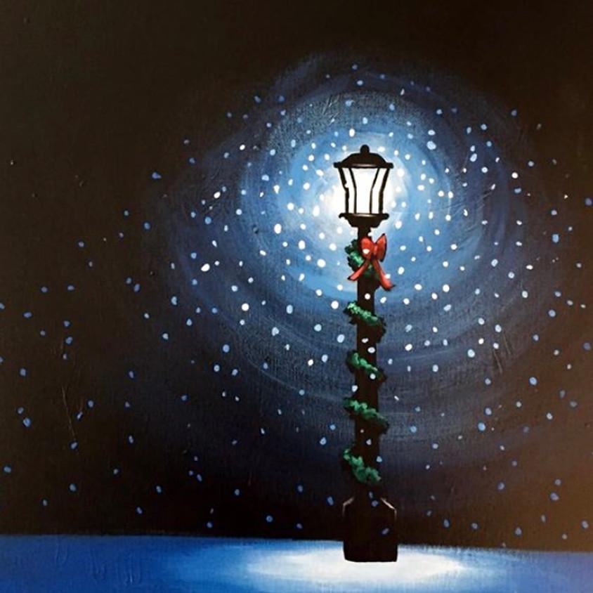 Snowy Night Canvas Painting