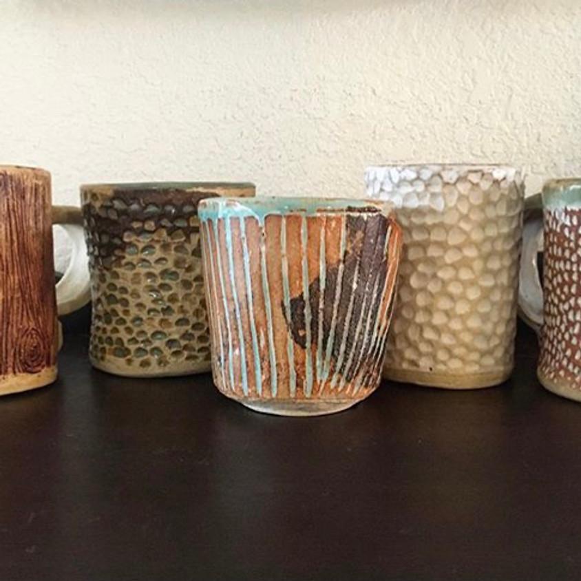 Slab Built Clay Mugs