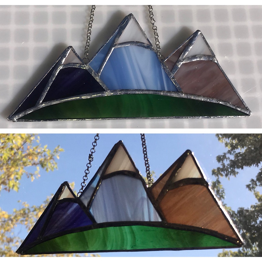 """""""Freel, Jobs & Jobs' Sister"""" Stained Glass Mountains"""