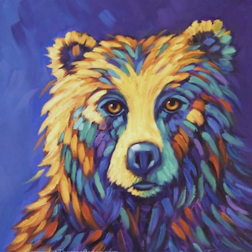 Chromatic Canvas Painting (Bear) - SOLD OUT