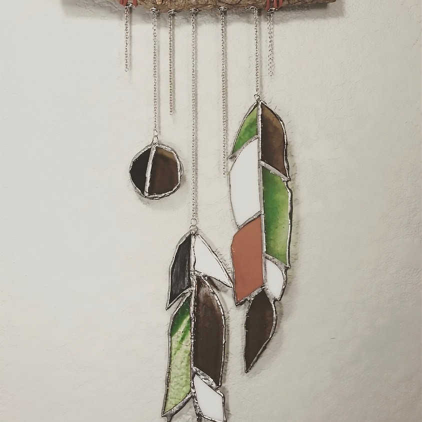 Stained Glass - Feather Windchime