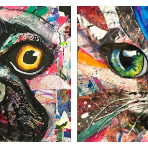 """Summer Session - 5 Day """"Abstract Animal Face"""""""