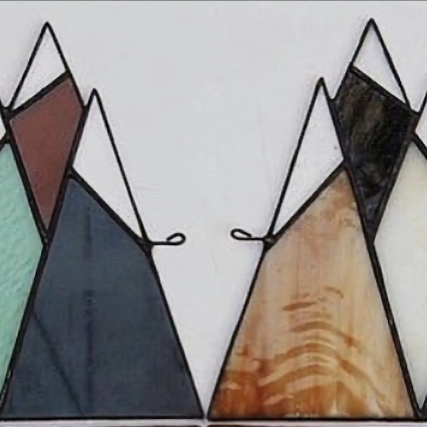 Stained Glass - Mountains