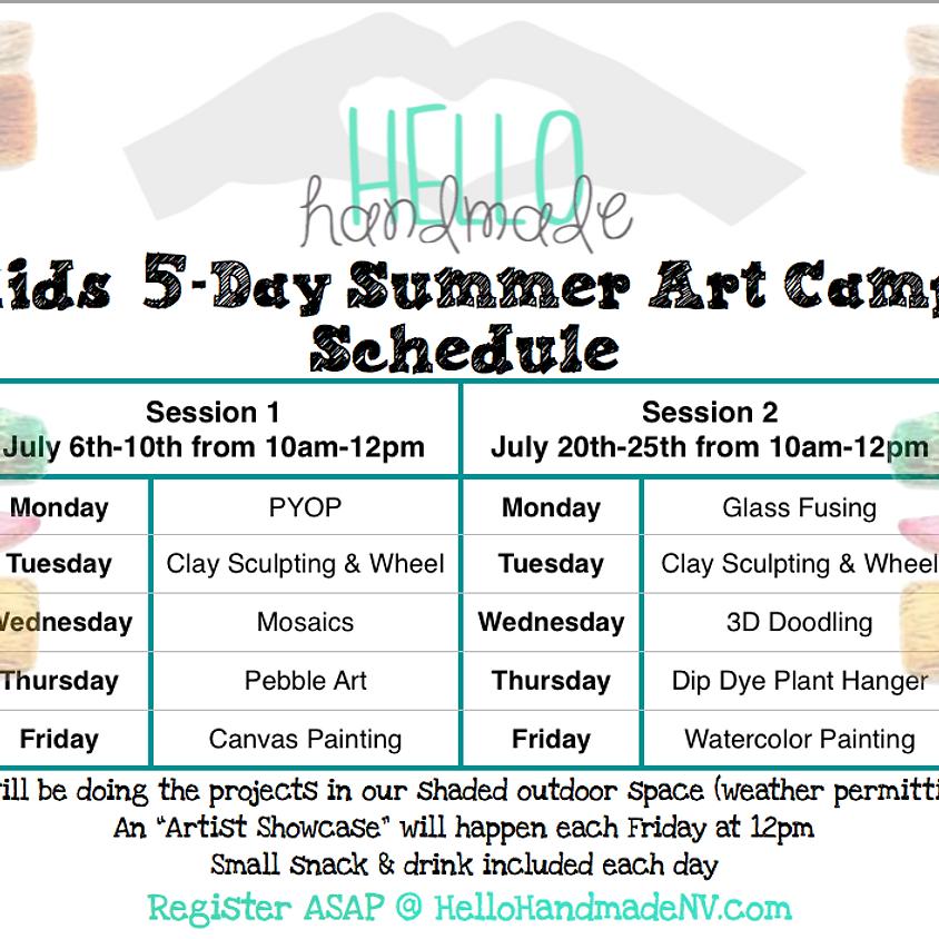 Kids 5 Day Summer Art Camp
