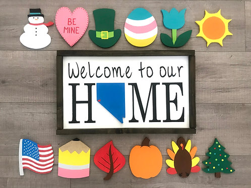 """""""Welcome to out HOME""""- 13 piece Monthly Jumbo Kit + Custom State"""