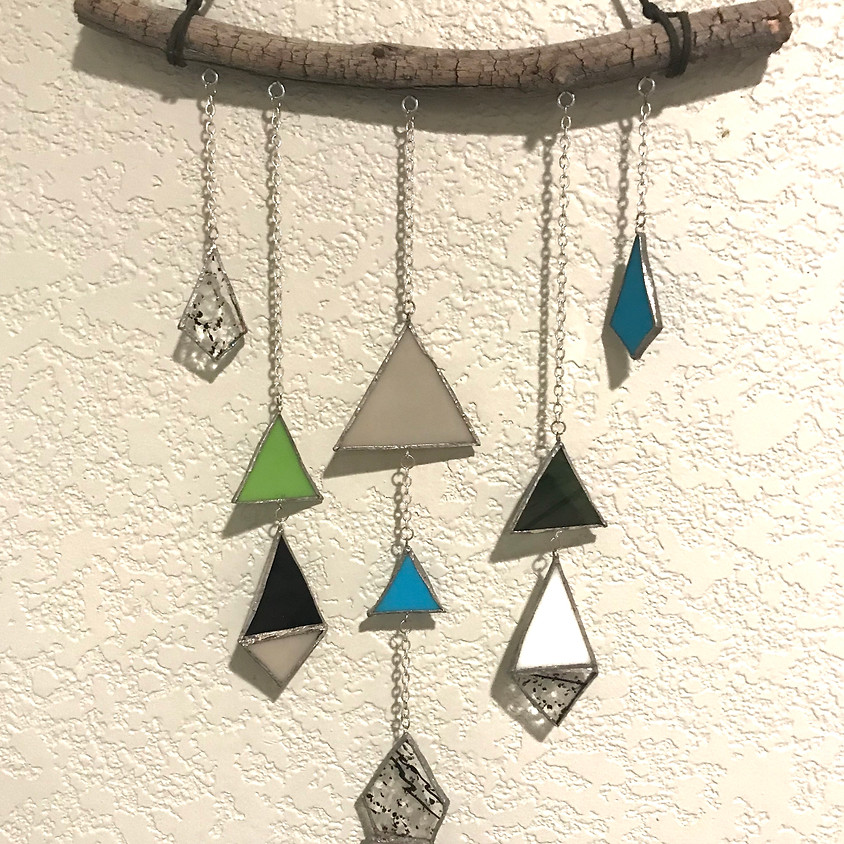 Stained Glass - Triangle Windchime