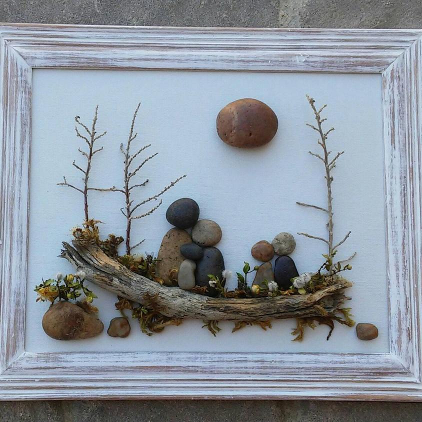 Framed Pebble Art