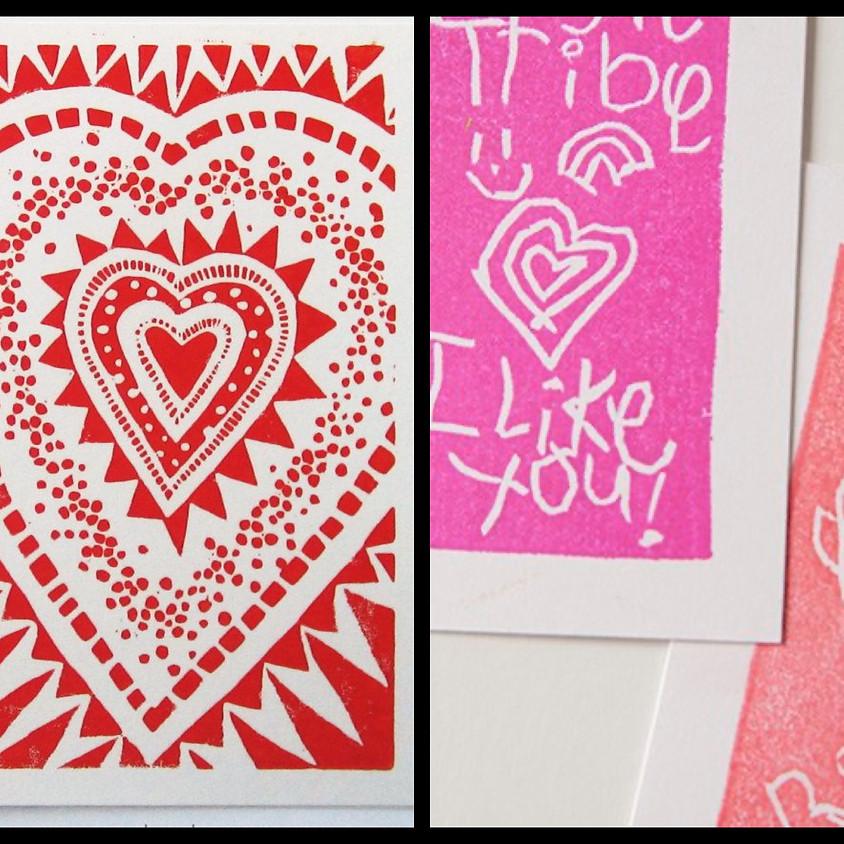 Kids Art Club - Stamp Carving (Valentine's Cards)