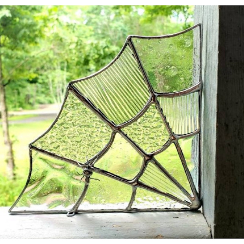 Stained Glass - Spider Web Corner