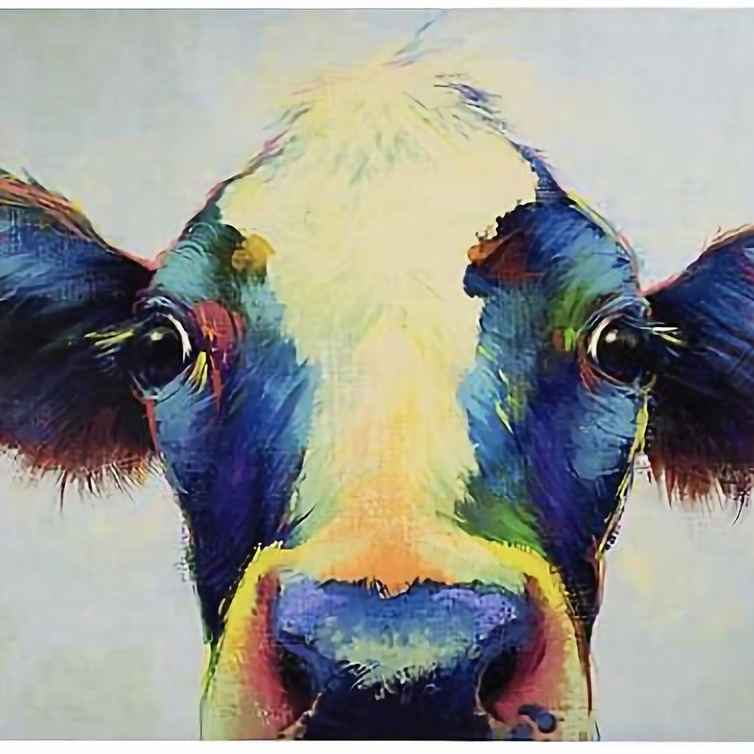 Chromatic Canvas Painting (Cow)