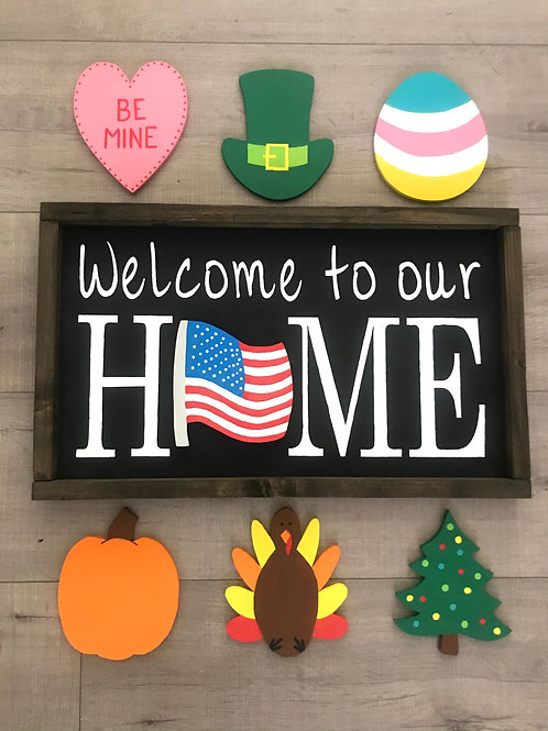 """Welcome to our HOME""- 7 piece Holiday Kit"