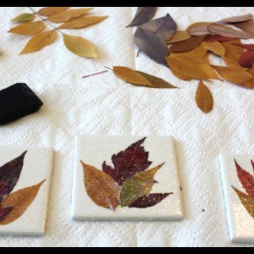 Lil' Artists - Leaf Coasters