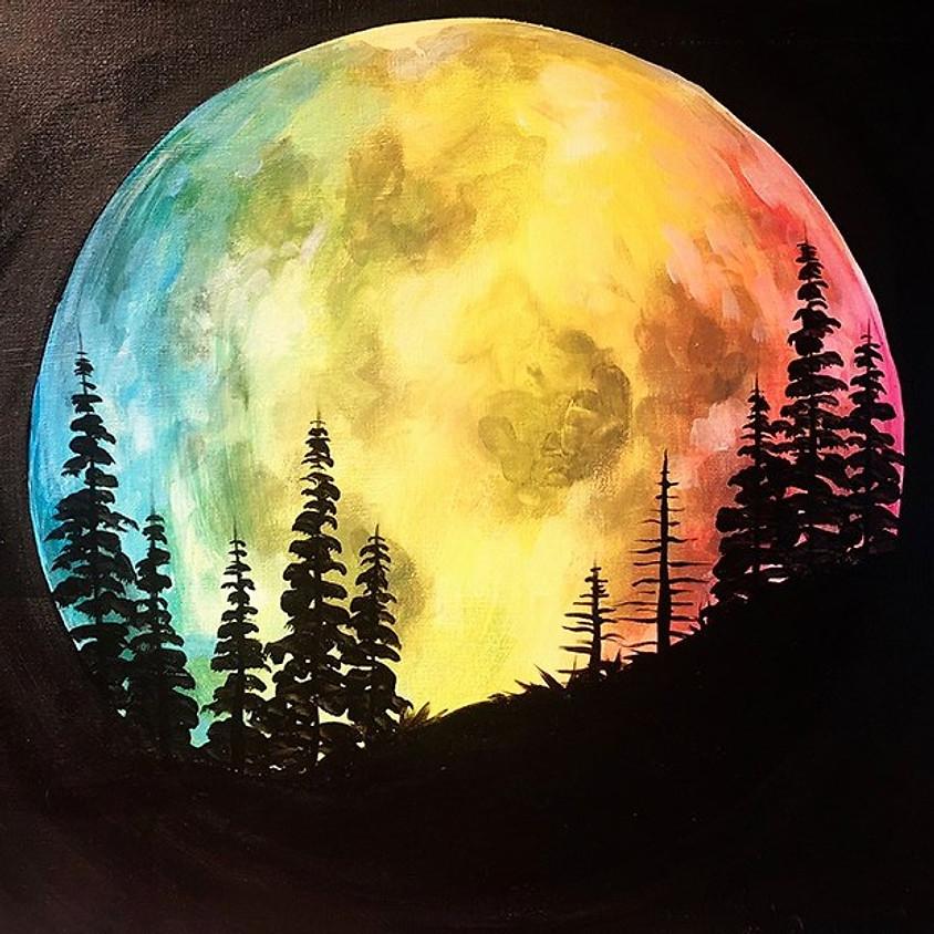 Moon Watercolor Painting