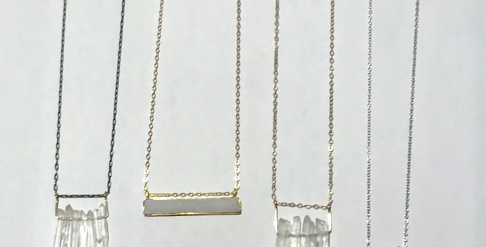 Quartz Crystal Necklaces $32 - Druzybar $42