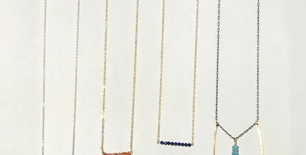 Semi Precious Stone Necklaces $32-$42