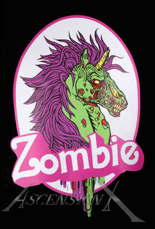 ''Zombie Licorne'' tirée de la Collection Edgy par MPier Théberge