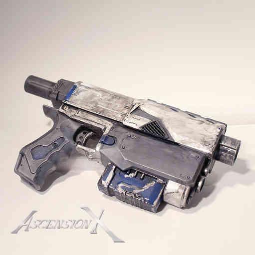 Hand Gun NERF. Traitement de surface_