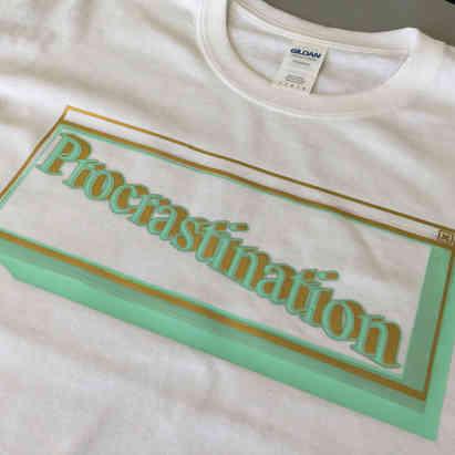 "T-shirt ""On verra demain"""