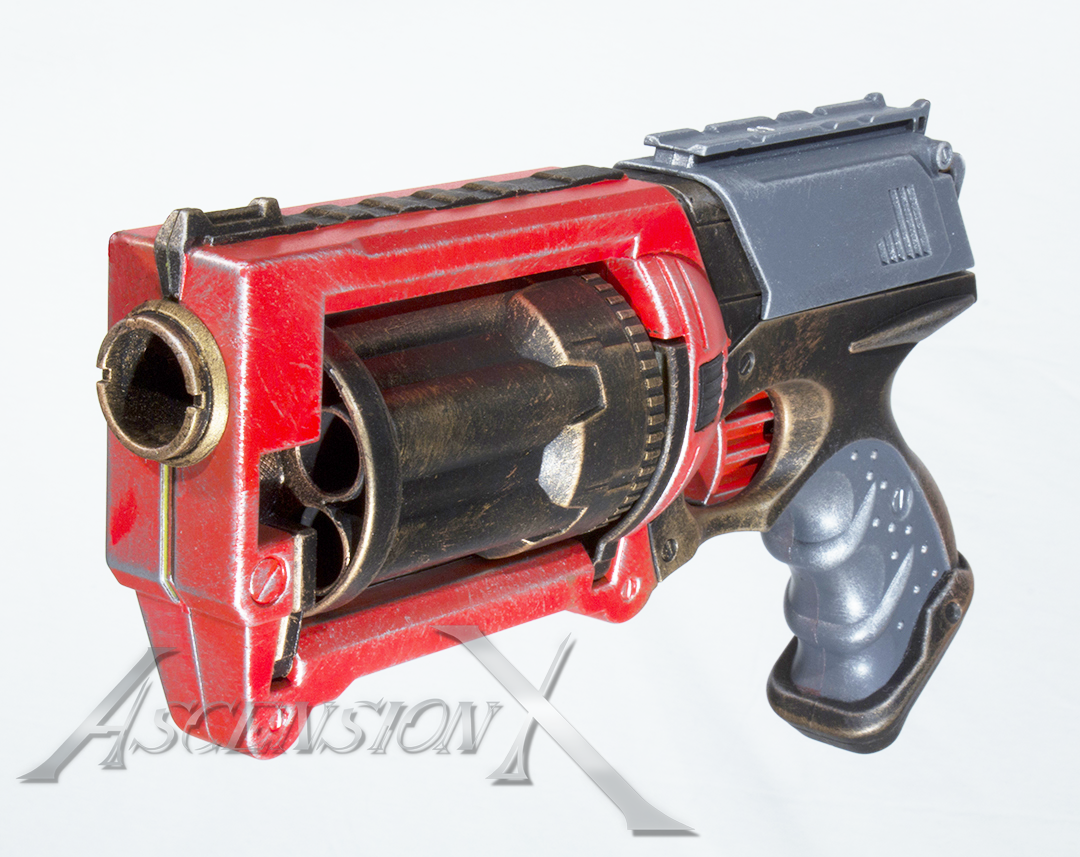 Blaster NERF. Traitement de surface_