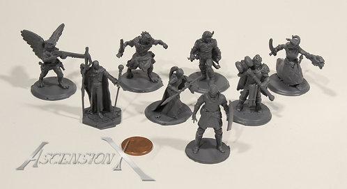 Lot de 10 figurines en résine