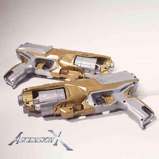 Guns Gold NERF. Traitement de surface_