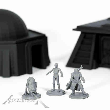Figurines 3 (resine) et batiments (ABS)