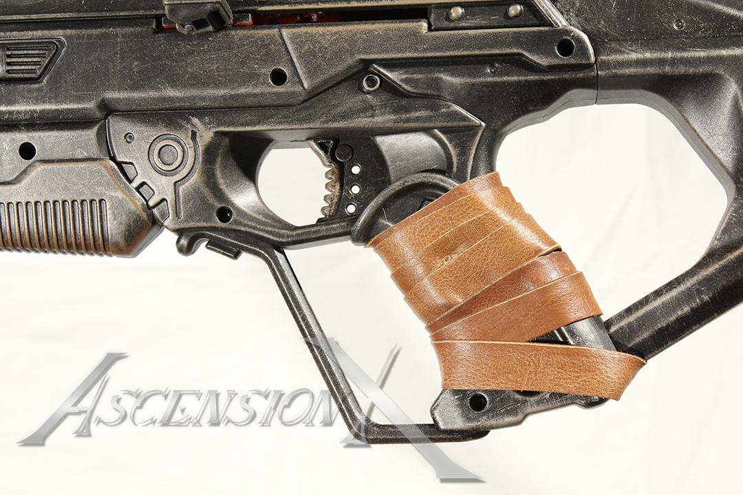 Rifle NERF (détail). Traitement de surfa
