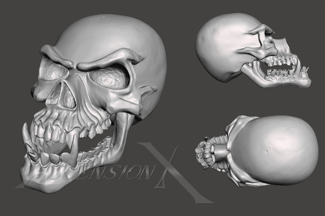 Scan 3D. Demon. Fichier STL.
