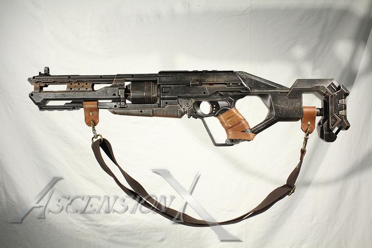 Rifle NERF. Traitement de surface_
