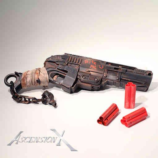 Shotgun Post Apocalipse NERF. Traitement