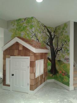 Nursery, Stairway - Mural by Design