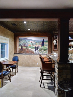 Residential Mural - Tuscany Theme