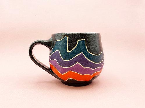 Midnight Rainbow Mug by Rachel Deliz