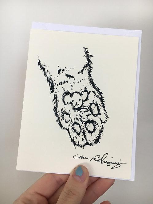 Cutie Cat Paw Card