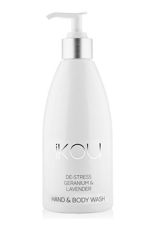 iKOU De-Stress Geranium & Lavender Hand/Body Wash