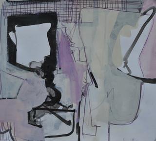 Gouache et crayons de couleur sur papier 29 x 31,5 cm  2018