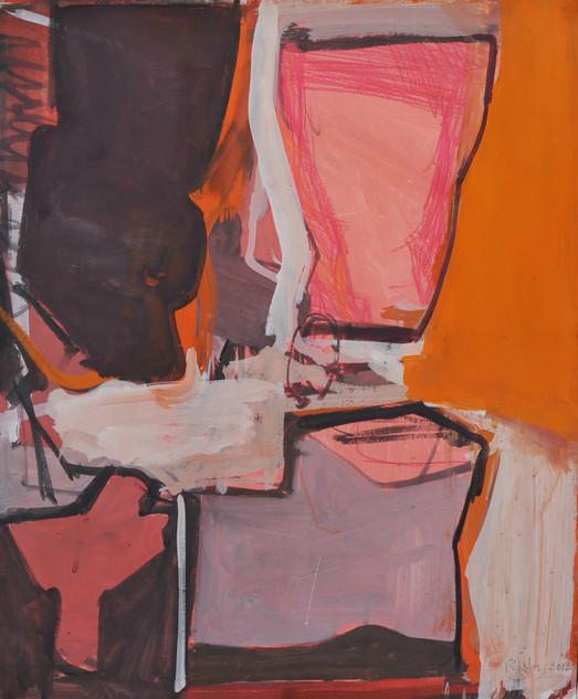 gouache et crayon de couleur sur papier 54 x 65 janvier 2019 cm