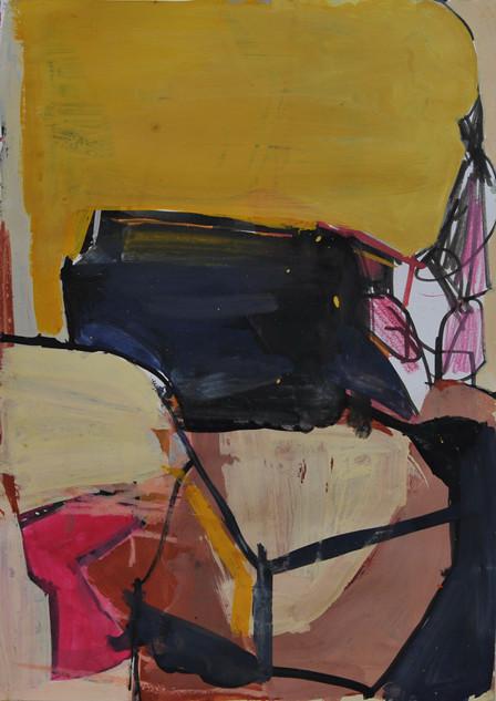 gouache et crayon de couleur sur papier 29 x 41 cm septembre 2019