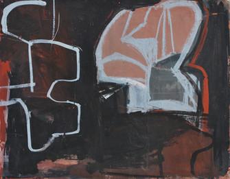 Gouache, crayons de couleur et collage sur papier  24 x 30,5 cm   1998