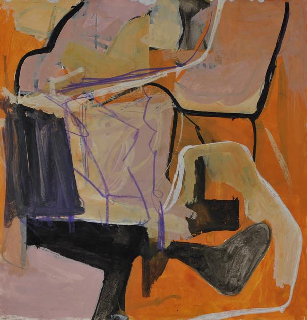 gouache et crayon de couleur 28 x 30 cm aout 2019
