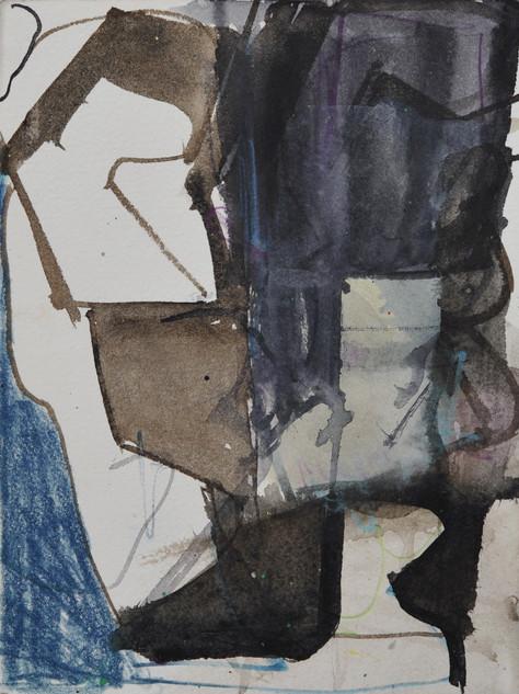 encre gouache et crayon de couleur sur papier 15 x 20 cm septembre 2019